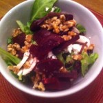 Spinach, Beet and Goat Cheese Salad